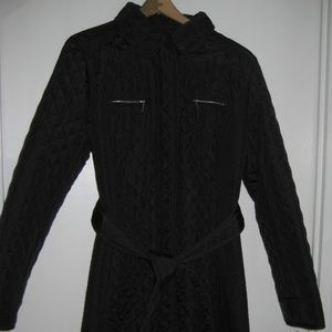 Hobbs London Quilted Belted Trench - Never Worn